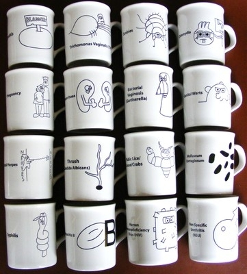 4TS - Sexually Shared Infection (SSI) Mug - Set of 16 (4TS-MUGS16)